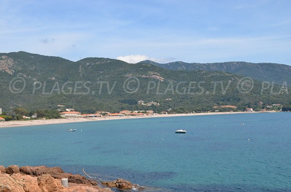 General view of Sagone beach - France