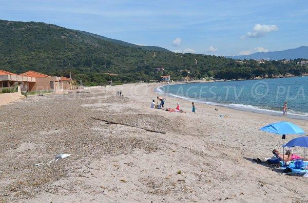 Sagone beach in Corsica