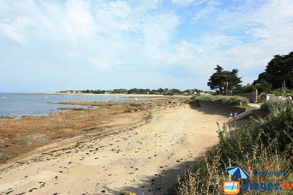 Photo de la plage de Saint Aubin sur l'ile d'Yeu