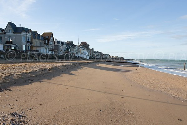 Photo of the beach of St Aubin sur Mer in Calvados