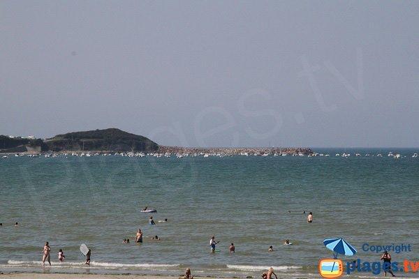 Port de Beg Douar depuis la plage de St Efflam