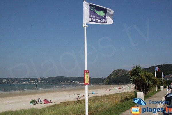 Photo de la plage de Saint Efflam en Bretagne
