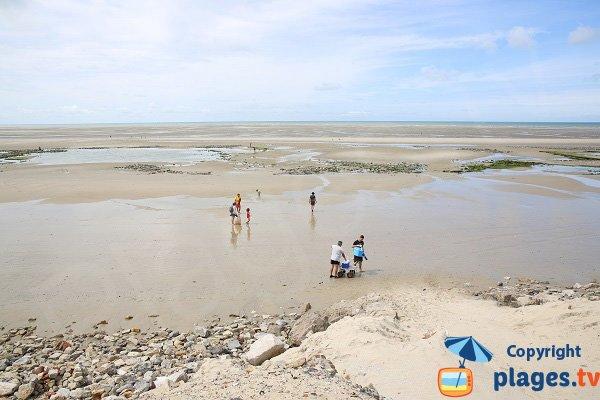 Plage de St Gabriel à marée basse - Camiers