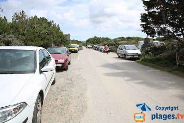 Parking de la plage de Saint Gabriel à Sainte Cécile
