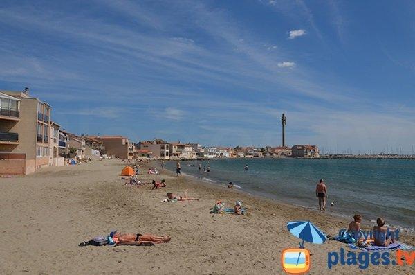Photo de la plage de Saint Gervais à Fos sur Mer en été