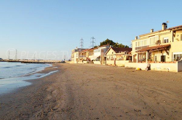 Saint Gervais beach in Fos sur Mer in France