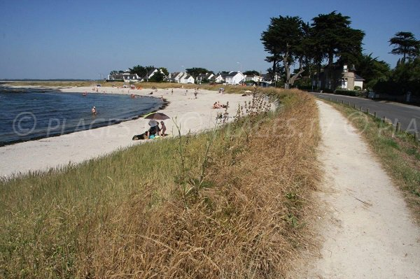 Saint Goustan beach in Le Croisic in France