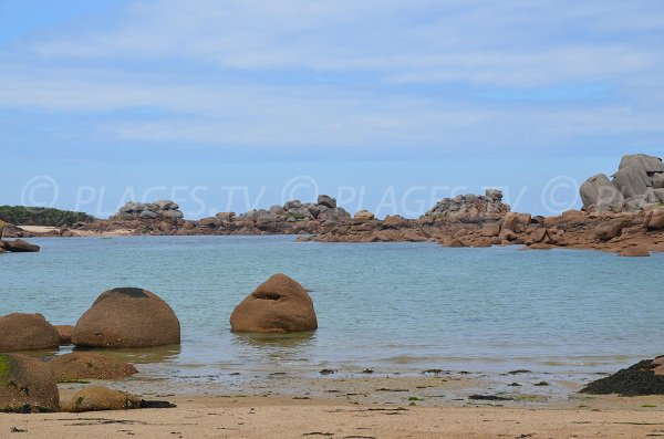 Rocks of Saint Guirec beach