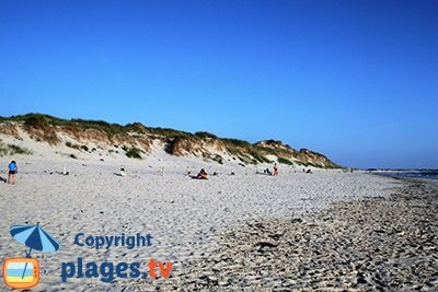 Plage de St Jean Trolimon dans le Finistère Sud