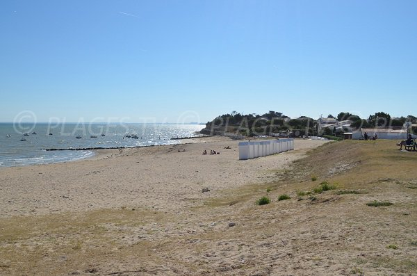 Global view of Saint Martin de Ré beach from the citadel