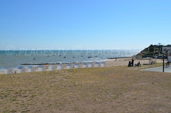 Cible beach in Saint Martin de Ré - Island of Ré in France