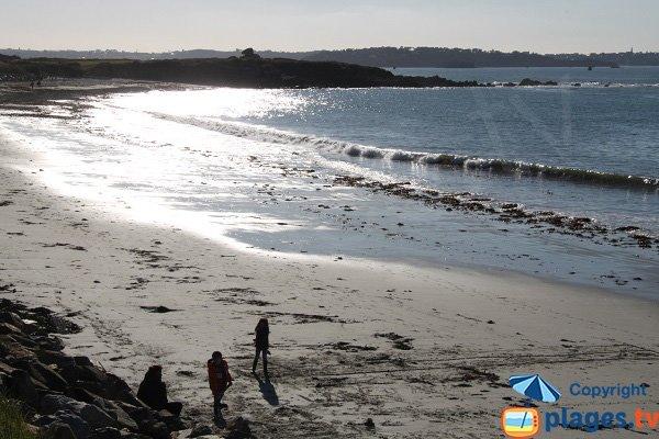 Photo de la plage de Saint Samson à Plougasnou