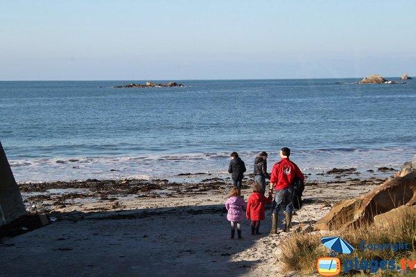 Accès à la plage de St Samson