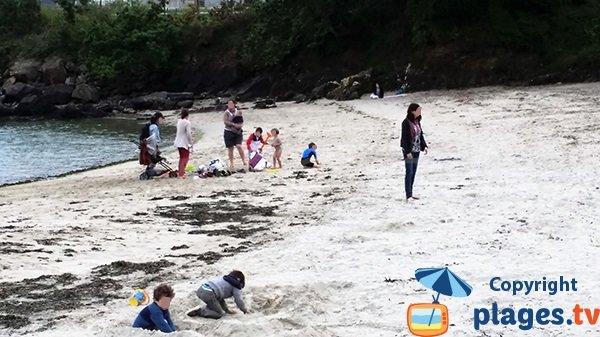 Plage de sable à Brest