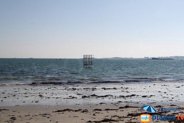 Plongeoir sur la plage de St Pol de Léon