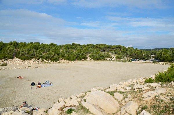 Large beach of Sainte Croix in Martigues