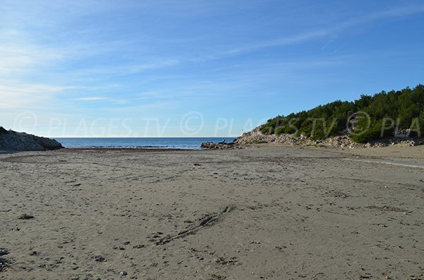 Public beach of Sainte Croix in La Couronne