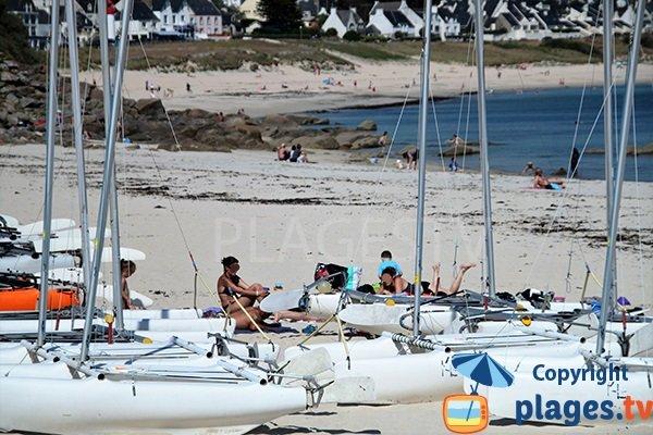 Sports nautiques sur la plage de Sainte Evette