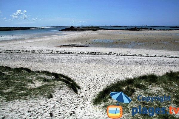 Zone de baignade de la plage de Sainte Marguerite à Landéda