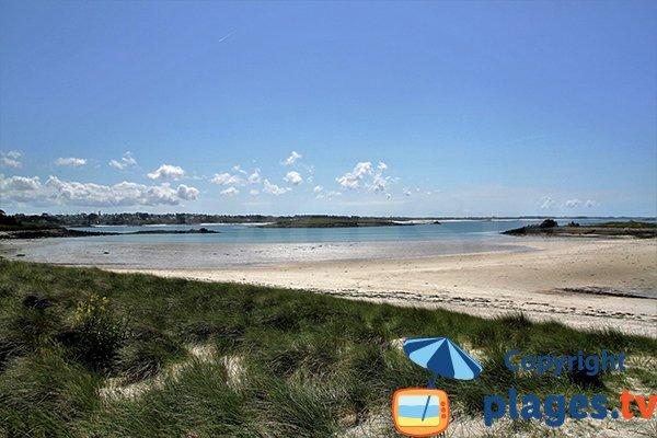Belle plage à Landéda