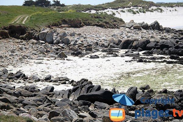 Petite crique autour de la plage de Ste Marguerite - Landéda