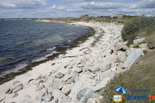 Photo of Saisies beach in Gavres in France