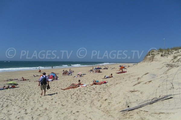 Grand Pyla sur Mer sandy beach near the Landes department