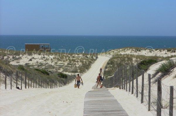 Accès à la plage de Salie Nord à Pyla