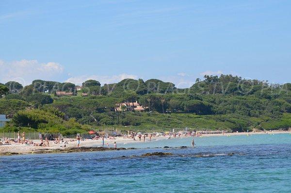 Salins beach in Saint Tropez in summer