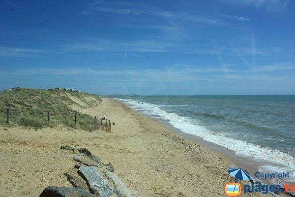 Nudist beach of Salins in Saint Hilaire de Riez in France