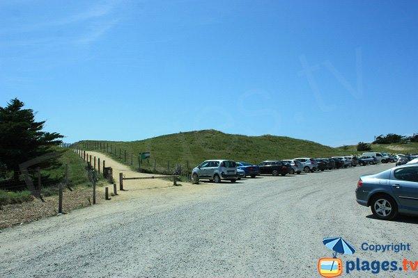 Parking of Salins beach - St Hilaire