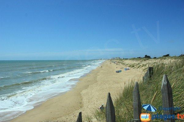 Photo de la plage des Salins à Saint Hilaire de Riez