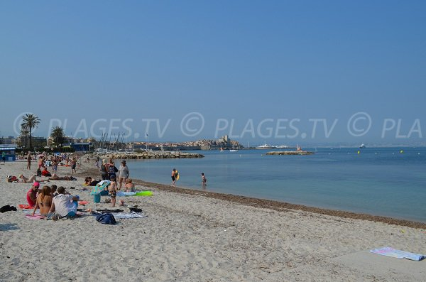 Salis beach with Old Antibes view