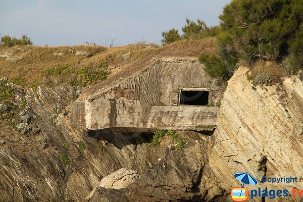 Blockhaus on the Samzun beach in Belle Ile en Mer