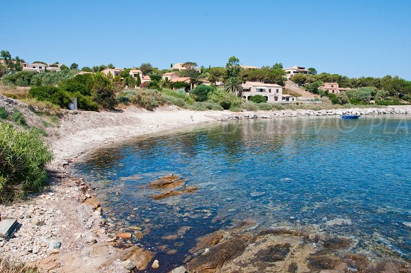 Photo de la plage de San Damiano à Algajola - Corse