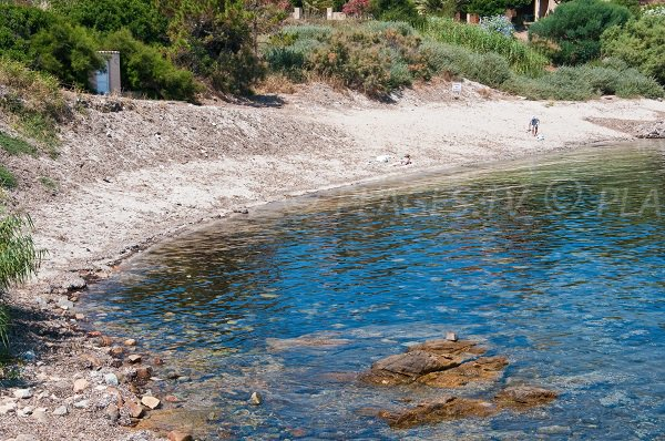 Beach near the Algajola harbor in Corsica