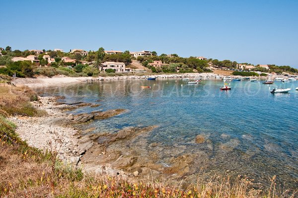 Photo of San-Damiano beach in Algajola in Corsica