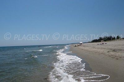 San Giuliano Beach in Corsica