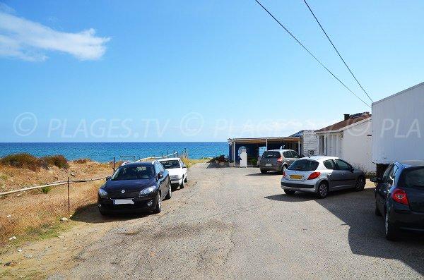 Parking de la plage de San Giuliano