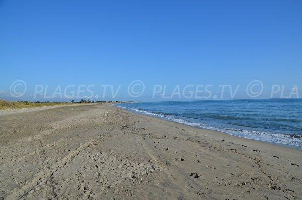 Zone nord de la plage de San Pellegrinu en Corse