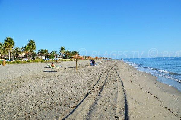 Photo de la plage de San Pellegrino au niveau de l'hôtel