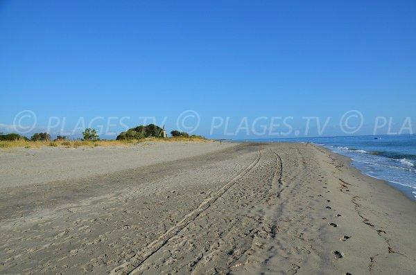 Séparation entre les deux zones de la plage de San Pellegrino