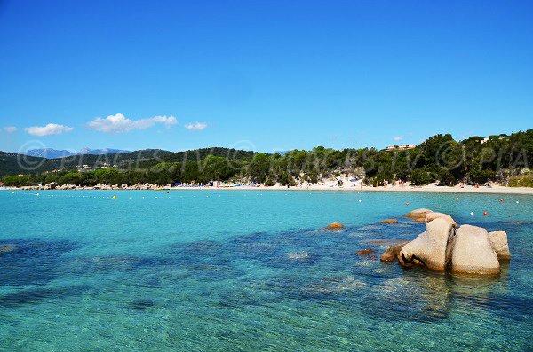 Beach on the Gulf of Santa Giulia Corsica