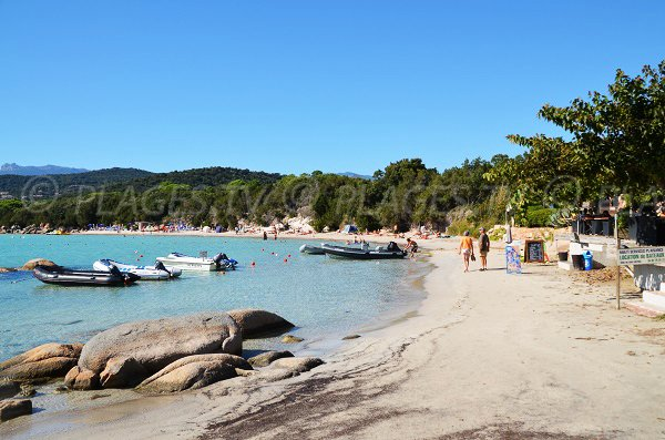 santa giulia beach in porto vecchio south corsica france. Black Bedroom Furniture Sets. Home Design Ideas