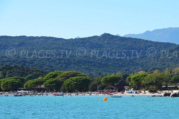 Central part of the beach of Santa Giulia