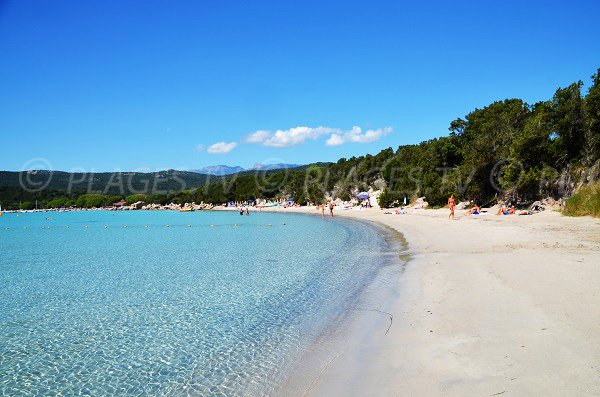 Photo of the Santa Giulia beach in Porto Vecchio - Corsica