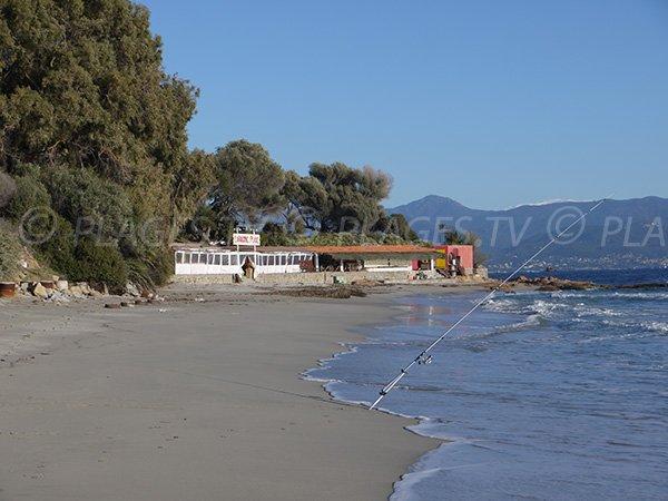 Une paillote sur la plage de Santa Lina à Ajaccio