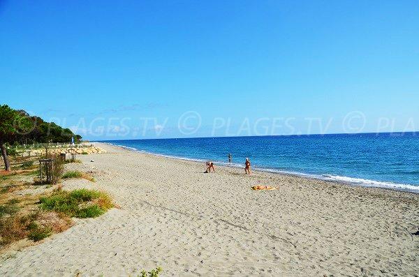 Photo de la plage de Santa Lucia de Moriani en Corse