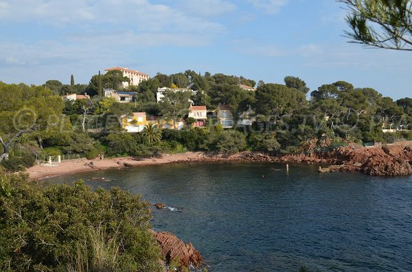 Beach on coastal path of Saint Raphael