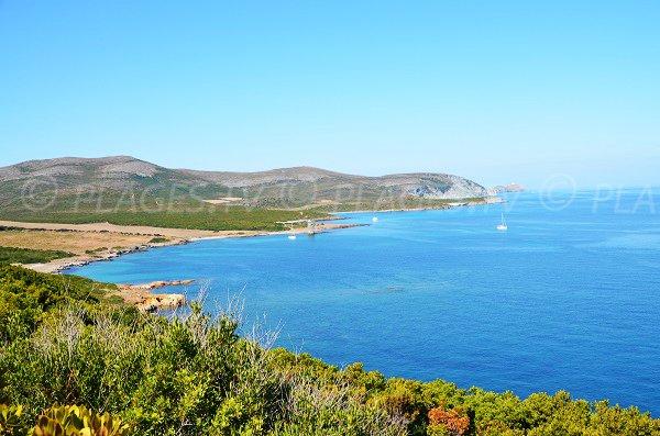 Santa Maria beaches in Macinaggio in Corsica